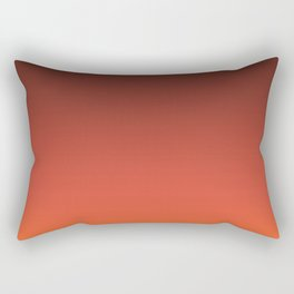 Brown orange gradient Rectangular Pillow