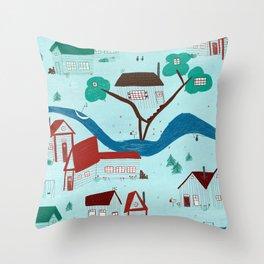 Maison canadienne Throw Pillow