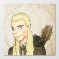 legolas Canvas Prints featuring Legolas by Joan Pons