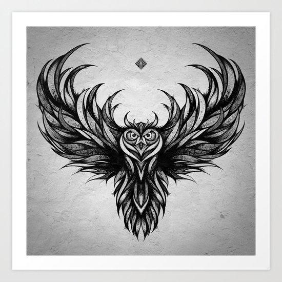 Owl Art Print By Andreas Preis Society6