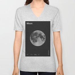 Solar System _ Moon Unisex V-Neck