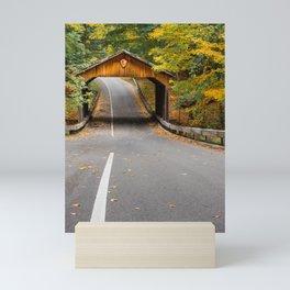 Road in the scenic drive in Sleeping Bear Dunes Mini Art Print