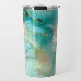 Alcohol Ink 'Mermaid' Travel Mug