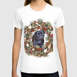 Christmas pug puppy T-shirt