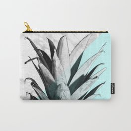 Pineapple Top Marble Pastel Blue Carry-All Pouch