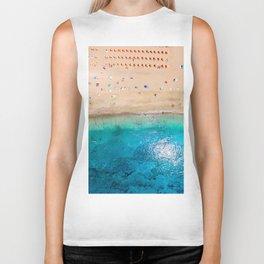 AERIAL. Summer beach Biker Tank