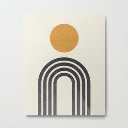 Mid century modern gold Metal Print