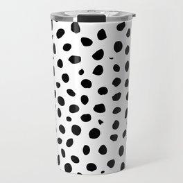 Black And White Cheetah Print Travel Mug