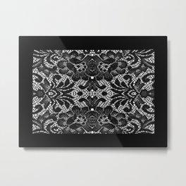 Blk Lace Metal Print