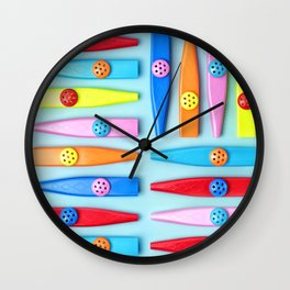 COLORFUL KAZOOS Wall Clock