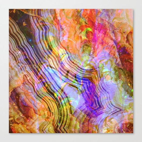 abstract crystal x Canvas Print