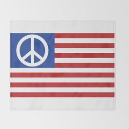 Peace in America Throw Blanket