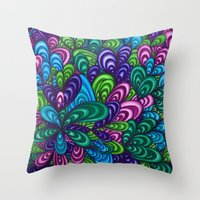 jungle Throw Pillows featuring Jungle by datavis/pwowk