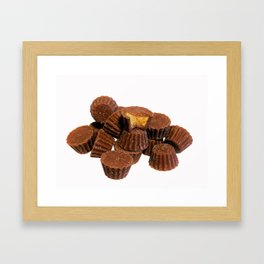 Mini Chocolate and Peanut Butter Treats Framed Art Print