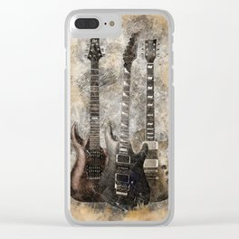 Sounds of music. Three Guitars. Clear iPhone Case