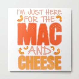 Cheese pasta for dinner gift Metal Print