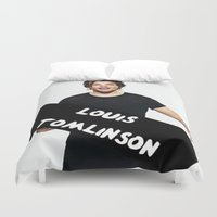 louis tomlinson Duvet Covers featuring Louis Tomlinson by girllarriealmighty
