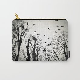 crows roost at twilight Carry-All Pouch