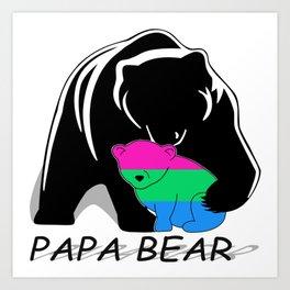 Papa Bear Polysexual Art Print