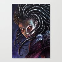 starcraft Canvas Prints featuring Queen of Blades by Denda Reloaded