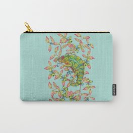 Colorful Chameleon with berries - V1 Carry-All Pouch