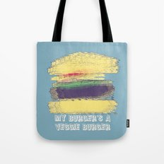 Veggie Burger (blue) Tote Bag