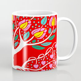 Love Grows Forever - Tomato Red Coffee Mug