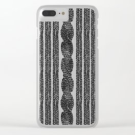 Cable Stripe Black Clear iPhone Case