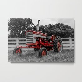 IH 240 Farmall Tractor Red Tractor Color Isolation Metal Print