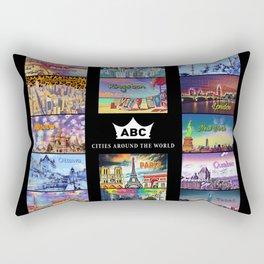 ABC Cities Around the World Rectangular Pillow