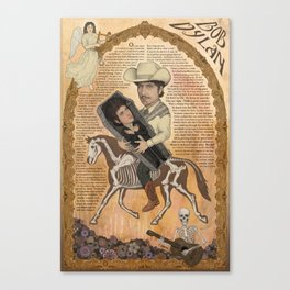 Bob Dylan - Find Out Something Only Dead Men Know Canvas Print