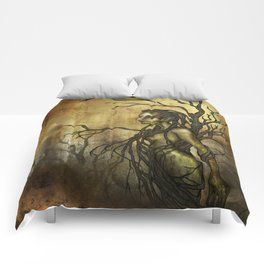 Dark Dryad Comforters