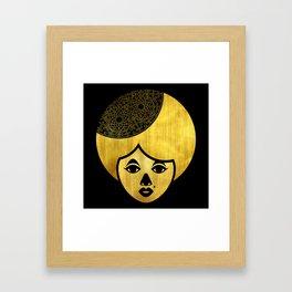 Golden Bronze Girl Framed Art Print
