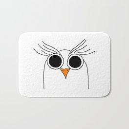 Drawing cartoon of a owl Bath Mat