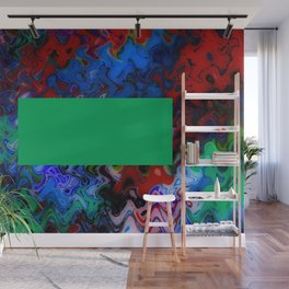 Green Box Floating On Water Wall Mural