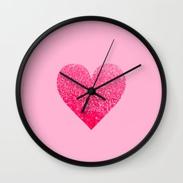 PINK PINK HEART Wall Clock