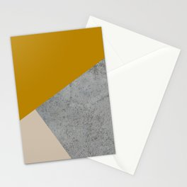 MUSTARD NUDE GRAY GEOMETRIC COLOR BLOCK Stationery Cards