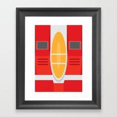 Starscream Transformers Minimalist Framed Art Print