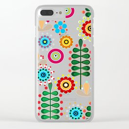 Waltz of the flowers . Retro Clear iPhone Case