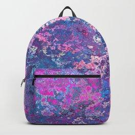 Paint Splatter in Blue Raspberry Backpack