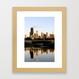 Chicago Skyline Reflection Framed Art Print