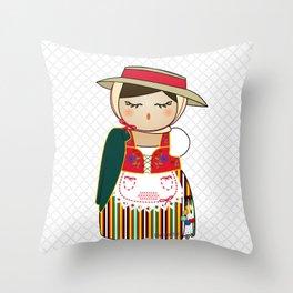 Kokeshi Canaria Throw Pillow