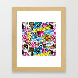 GRAFF--PATTERN Framed Art Print