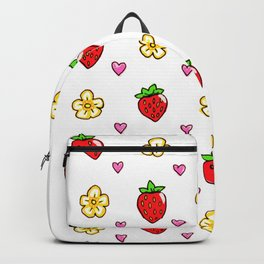 Strawberry Doodle Pattern Backpack