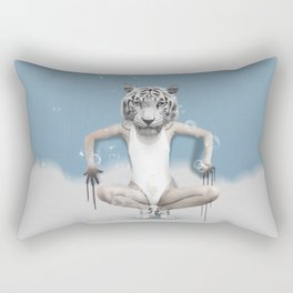Dreamanimals - White Tiger Rectangular Pillow