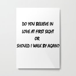 THE FIRST LOVE Metal Print