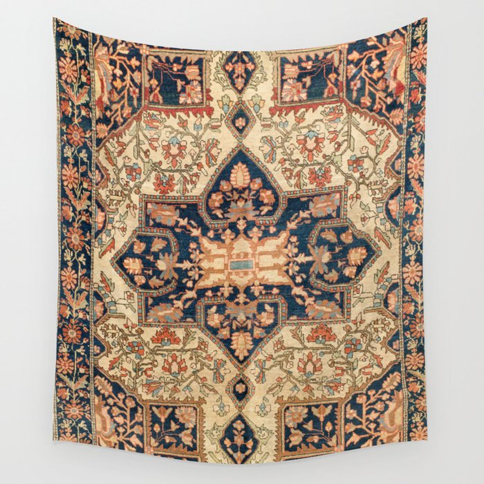 Ferahan  Antique West Persian Rug Print Wall Tapestry