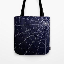 Spiderweb on Midnight Tote Bag