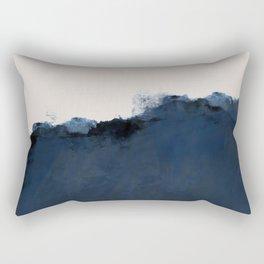 Abstract, blue, beige, indigo Rectangular Pillow