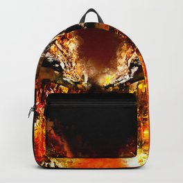 wolves hate monday splatter watercolor Backpack
